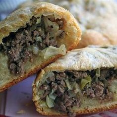 """Bierrocks   1 of 1 Photo  Bierrocks III    By: Sallie   """"German pastry sandwiches filled with meat, cabbage and onions. If preferred, use any plain roll dough of your choice. Pastries can be frozen and reheated."""""""