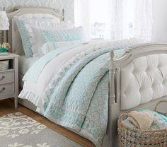 Designer Bedding Sets On Sale Bedding And Curtain Sets, Matching Bedding And Curtains, King Bedding Sets, Luxury Bedding Sets, King Comforter, Comforter Sets, Tufted Bed, Upholstered Platform Bed, Aqua Bedding
