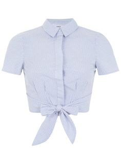 Petites Stripe Tie Shirt - Miss Selfridge