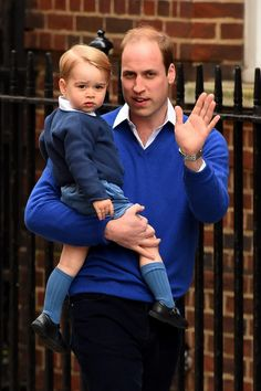 LONDON:  Paddington St. Mary's Hospital Lindo Wing - Prince George meets his sister  . May 2 2015
