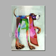 Single Modern Abstract Pure Hand Draw Ready To Hang The Dog Decorative  Oil Painting 2017 - $71.99