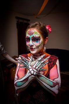 Elaborate halloween makeup