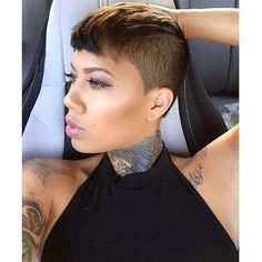 The Cut Life @thecutlife Instagram photos | Websta Short Sassy Hair, Girl Short Hair, Short Hair Cuts, Short Hair Styles, Short Pixie, Straight Hair, Short Black Hairstyles, Funky Hairstyles, Girl Hairstyles