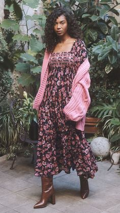 Free People Sweet Escape Maxi Dress Free People Maxi Dress, Bohemian Lifestyle, Tiered Skirts, Who What Wear, Bodice, Neckline, Smocking, Beautiful Outfits, Spring Fashion