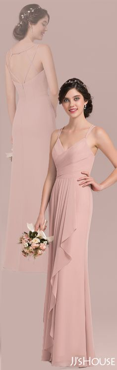 What an amazing bridesmaid dress with such a gentle color! #JJsHouse #Bridesmaid