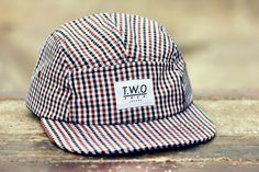 The Worlds Original Face  TWO Face London3rd Edition 5 panel cap, hat- Gingham fabric- Nylon strapSupreme condition, only the best quality