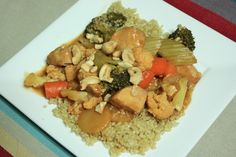 Kung Pao -- healthy AND in the crock pot -- how can we go wrong? via meals & moves