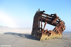 Peter Iredale Shipwreck (near Astoria)   Highlights from Roadtripping Through Oregon   packmeto.com