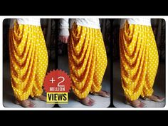 In this sewing tutorial I will tell you how to make dhoti salwar step by step in hindi. In this video I have told the easiest method possible to make dhoti s. Sleeves Designs For Dresses, Fancy Blouse Designs, Dress Neck Designs, Dhoti Salwar Suits, Salwar Pants, Sharara, Churidar, Kurti, Girls Dresses Sewing