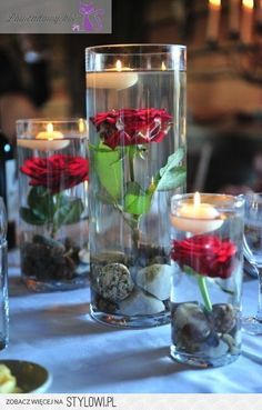 Wedding Roses & Candles