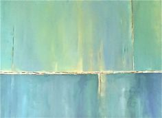 Soft Summer Night: abstract contemporary modern painting, acrylic on canvas, by artist Ann Sklar, 2012