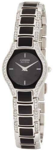 Women's Wrist Watches - Citizen Womens EW987064E EcoDrive Normandie Black Resin Watchand Bracelet Set -- More info could be found at the image url.