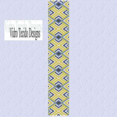 Peyote Stitch Bracelet Pattern  Mosaic 21 by vidrotecido on Etsy, $2.00