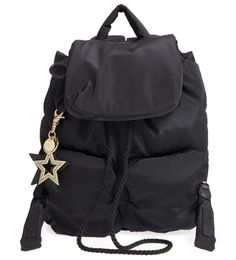 'joyrider' backpack by See By Chloe. Sporty street style and modern sophistication merge in a sleek backpack featuring plenty of pockets and a star bag ch...
