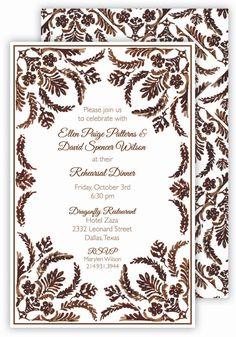 Brown Pattern #Fall Invitation   Polka Dot Fall Party Invitations  #Thanksgiving
