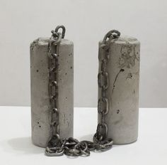 Davina Semo, IN SOME MOMENTS SHE SEMED TO HERSELF A PERSON WITH NO PRIOR LIFE (2013) Concrete Column, Small Sculptures, Reinforced Concrete, Human Condition, Steel Chain, Conceptual Art, Sculpture Art, Artsy, In This Moment
