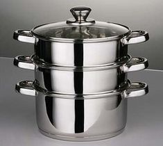 From 11.75 3 Piece Steamer Set 22cm - Stainless Steel Mirror Polishing Finish