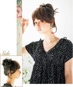 自分でできる髪型 ショートヘアルーズなアップスタイル2-1