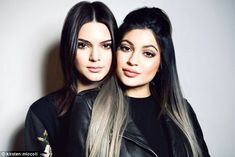 Sister, sister: Kendall and Kylie cuddled up for the photoshoot...