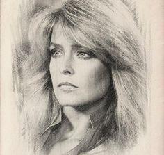 Farrah Fawcett Fan Forever Celebrity Drawings, Celebrity Portraits, Pencil Portrait, Portrait Art, Anime Comics, Realistic Face Drawing, Farrah Fawcett, Learn Art, Pencil Art Drawings