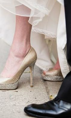 Used Champagne Shoes find it for sale on PreOwnedWeddingDresses.com