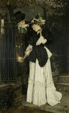 James Tissot (1836–1902) - Les Adieux:  The Farewells, Bristol Museum & Art Gallery