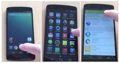 Une vidéo d'android 4.4 Kitkat sur un Nexus 5 ?