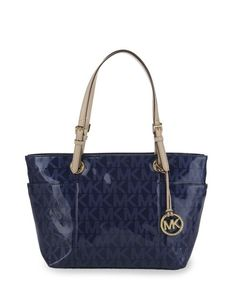 oh i got have it love it     MICHAEL Michael Kors     Signature Patent Tote - Sapphire