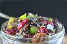 Wild Rice Salad with Cranberries and Nuts is the perfect fall and holiday salad, it's healthy and bursting with colorful fruits and nuts in every bite.