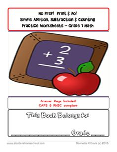 +No+Prep!+Print+&+Do!+Simple+Addition,+Subtraction+&+Counting+Practice+Worksheets+-+Grade+1+Math+from++St+Aiden's+Homeschool+&+Classroom/Teacher+Resources+on+TeachersNotebook.com+-++(63+pages)++-+No+Prep!+Print+&+Do!+Simple+Addition,+Subtraction+&+Counting+Practice+Worksheets+(Workbook)+-+Grade+1+Math