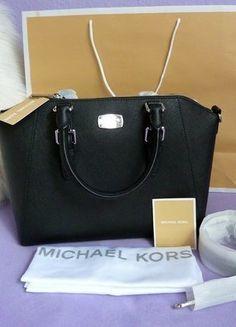 Kaufe meinen Artikel bei #Kleiderkreisel http://www.kleiderkreisel.de/damentaschen/handtaschen/138778092-michael-kors-ciara-tasche-bag-schwarz-silber-saffiano-neu