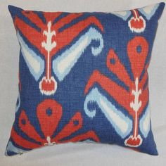 "The Pillow Collection Sakon Cotton Throw Pillow Color: American Beauty, Size: 24"" x 24"""