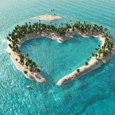 Heart Island photography beach beautiful ocean tropical heart travel palm trees vacation