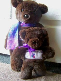 Teddy Bears supporting epilepsy.