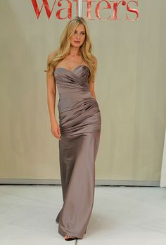 Brides: Wtoo - Fall 2011. Style 966, strapless satin mermaid wedding dress with a sweetheart neckline and ruched bodice.                                                                                                                                                                                                                                                                         Featured In: Wtoo Bridesmaid Dresses - Fall 2011