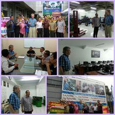 Mr Ebbe Rost van Tonningen visiting SMK Prakarya International (vocational school) because he is very interesting in education