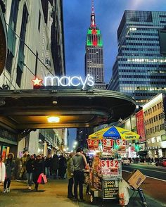 View of the Empire State at Macy's Herald Square,NYC