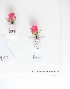 DIY | Mini Vase Magnets