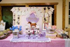 """Photo 1 of 31: Horse Party / Birthday """"Girly Giddy Up Birthday Party"""""""