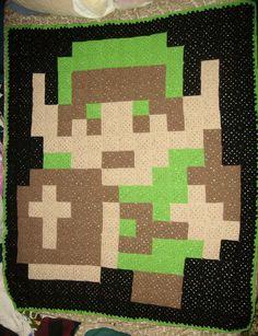 8 bit Link crochet blanket  by CherokeeCampFireGirl on DeviantArt