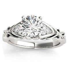 Transcendent Brilliance 14K Gold 3/4ct TDW Diamond Art Deco Style Engagement Ring (G, VS2) (White - Size 7), Women's, Pink