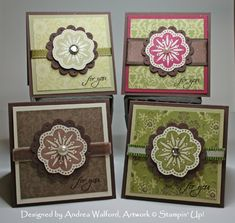 stampin up card ideas | Gift Card Set :: Andrea Walford - Artist, Paper Crafter ...