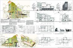 """Малоэтажный жилой дом """"Иакова лестница"""" Акварель, компьютерная графика 3 курс"""