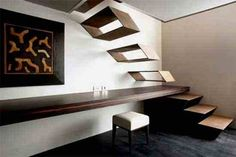 50 modern staircase design ideas to step up your interior decor a notch above your neighbors'. These designs will spice up your daily climb. Interior Staircase, Wood Staircase, Floating Staircase, Modern Staircase, Staircase Design, Stair Design, Dia Do Designer, Green Design, Escalier Design