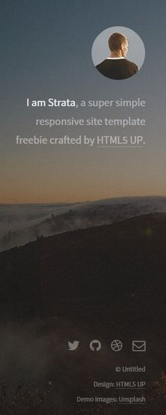 Last one for a bit. I promise. Another great #HTML5 Template from HTML5 UP