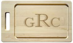 Maple 20 inch Personalized Handle Grill Cutting Board