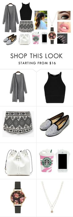 """""""plane rides"""" by udontknowme1267 on Polyvore featuring MANGO, Sole Society, Olivia Burton and LC Lauren Conrad"""