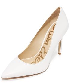 1d8c248649fbd SAM EDELMAN HAZEL PUMPS Bright leather lends a polished look to these  refined