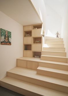 "new ""stairage"" out of ash wood Tagged: Storage Room and Under Stairs Storage Type. Haus Mai by Project Architecture Company. Browse inspirational photos of modern storage ideas. Home Stairs Design, Interior Stairs, Home Room Design, Home Interior Design, House Design, Stair Design, Architecture Company, Stairs Architecture, Interior Architecture"