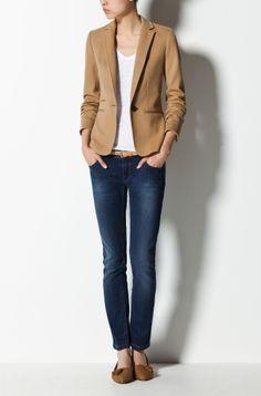 I like this blazer - http://www.massimodutti.com/webapp/wcs/stores/servlet/product/duttius/en/30109527/370506/1952065/TWILL%2BBLAZER